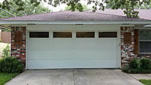 Overhead Door Panels 2 Single Car Garage Doors Converted Into 1 Car Garage