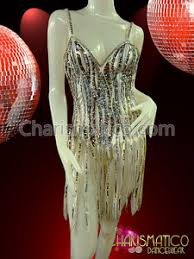 showgirl u0027s silver sequined beaded white fringe sassy dance