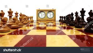 Wooden Chess Set Wooden Chess Board Wooden Chess Pieces Stock Photo 593853917