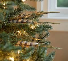 gold tipped feather tree pottery barn