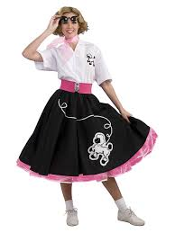 50s Halloween Costumes Poodle Skirts Black 50s Poodle Costume Women Poodle Skirts Poodle