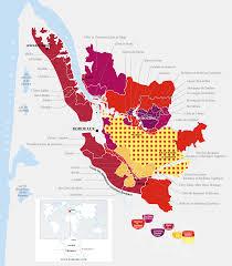 Map Of Bordeaux France by Bordeaux Region Wine Districts Map Bordeaux France U2022 Mappery