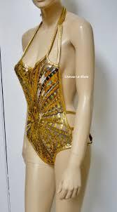 Moon Goddess Fairy Monokini Bra Cosplay Dance Costume Rave Bra by Golden Goddess Gold White Black Sequin Mesh Monokini Swimsuit