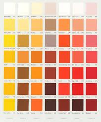 colour chart jpg 1216 1479 yellow u0026 orange paint colours