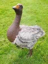 plastic resin goose garden statues lawn ornaments ebay