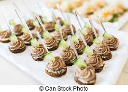 mini canape mini canapes with elements of molecular cuisine on stock photo