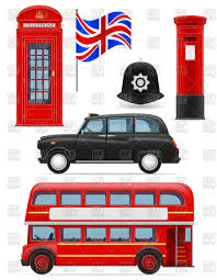 box car clipart london icons bus cab flag mail box phone booth and helmet