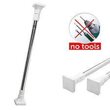 Tension Window Curtain Rods Amazon Com Tension Rods Taoxi Extendable Telescopic Stainless