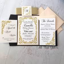 blush and gold wedding invitations blush gold black wedding invitations style by modernstork