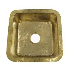 7 16 625 inch hammered brass square undermount bar sink