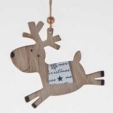 custom laser cut christmas decoration horse wood hanging ornaments