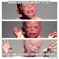 Try Not To Cry Meme - when you re trying not to cry then someone asks you what s wrong