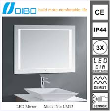 bathroom retractable mirror led backlit mirror fog proof shower