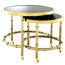 Gold Bedside Table Gold Metal And Glass Side Table Gold Glass Top Side Table Rose
