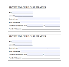 how to make a receipt daycare receipt template 17 free word excel pdf format