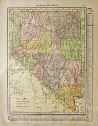 Map Of Nevada Cities Prints Old U0026 Rare Nevada Page