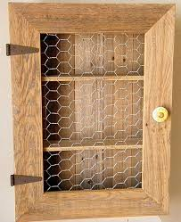 Spice Cabinets With Doors Country Cabinet Rustic Spice Cabinet With Chicken Wire Country