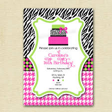 zebra print party invitations design birthday invitations online