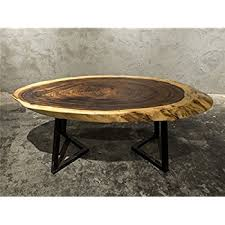 Wood Slab End Table by Amazon Com Live Edge Wood Slice Coffee Table Or Side Table