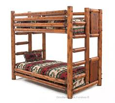 cedar log bunk bed barn wood bunk bed log bunk bed custom bed
