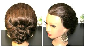 easy hairstyle tutorial for medium hair prom hairstyle youtube