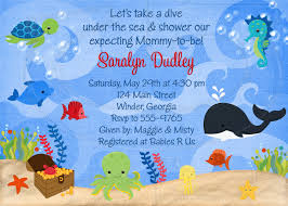 baby shower invitation cards under the sea baby shower invites