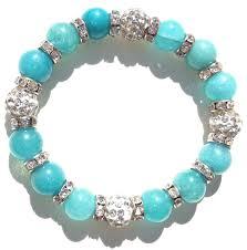 anita turquoise and silver rhinestone crystal bracelet brazen