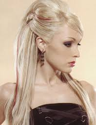 prom blonde updo hairstyles for long straight hair with side bangs