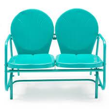 Vintage Outdoor Patio Furniture Coral Coast Vintage Retro Outdoor Glider Loveseat
