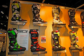 sidi crossfire motocross boots motocross action magazine walking the aisles of the aimexpo