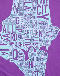 Map Of Seattle Neighborhoods by Seattle Neighborhoods Map Women U0027s T Shirt