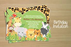 Jungle Birthday Card Birthday Invitation Card Jungle Invitation Templates