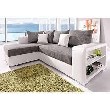 matière canapé canapé d angle réversible et convertible bi matière aspect cuir et