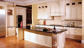 Colonial Kitchen Cabinets by Charming Cream Colored Painted Kitchen Cabinets Also Colonial