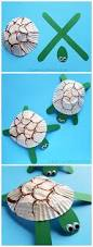 cupcake liner turtle craft for kids turtle crafts ocean themes