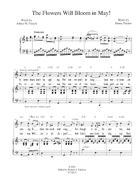 wedding dress chords piano the flowers will bloom in may tucker henry l imslp petrucci