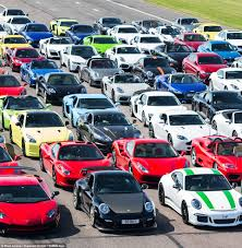 exotic cars lined up spectacular photo of 200 top of the range vehicles daily mail online