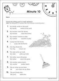 grammar worksheets grade 1 grammar minutes grade 1 044343