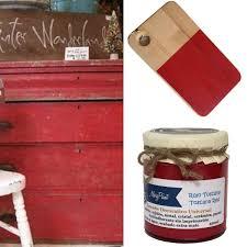 Diy Transfer Mueble Paso A Paso Pintar Muebles De Rojo Toscana El Taller De Lo Antiguo