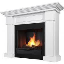 real flame hillcrest 48 inch gel fireplace with mantel white
