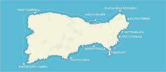 Capri Italy Map by Boat Tours Of Capri Italy Blue Sea Capri