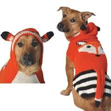 chilly dog handmade organic wool dog sweater fox with hood