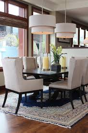 inspired wingback dining chair in dining room transitional with