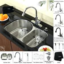 kitchen sink faucet combo kraus kitchen sink faucet combo lowes stainless steel and