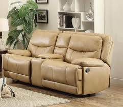 Loveseat Glider Homelegance Risco Double Glider Reclining Love Seat With Center
