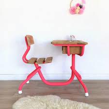 bureau enfant metal pupitre 1 place bureau enfant bois métal coloris vintage