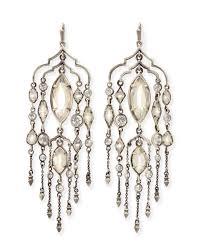 Silver Chandelier by Emma Silver Chandelier Duster Earrings Kendra Scott