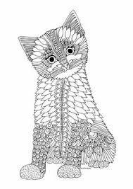 kittens butterflies coloring book katerina svozilova http