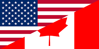 Map Of Canada And Us File Flags Of Canada And The United States Svg Wikimedia Commons