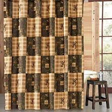 Country Shower Curtain Browning Country Shower Curtain Home Kitchen